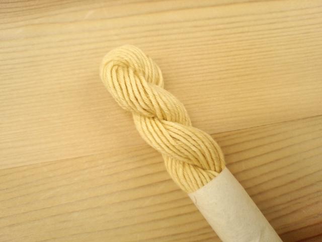 草木染 りんご染め 糸