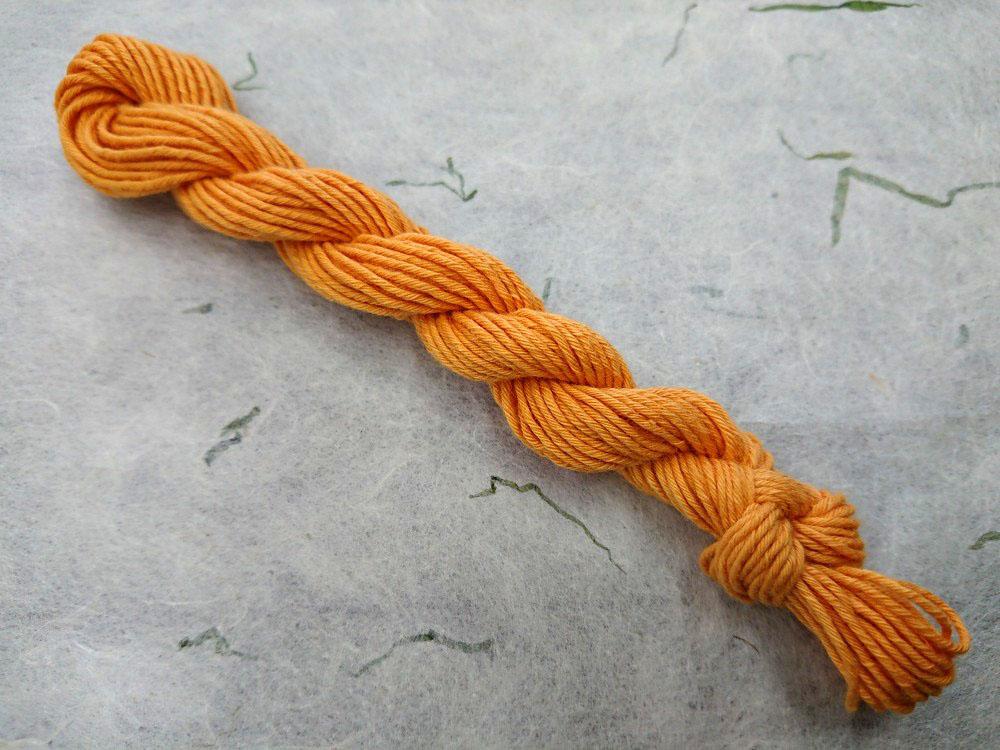 りんご 染め 糸 橙 オレンジ