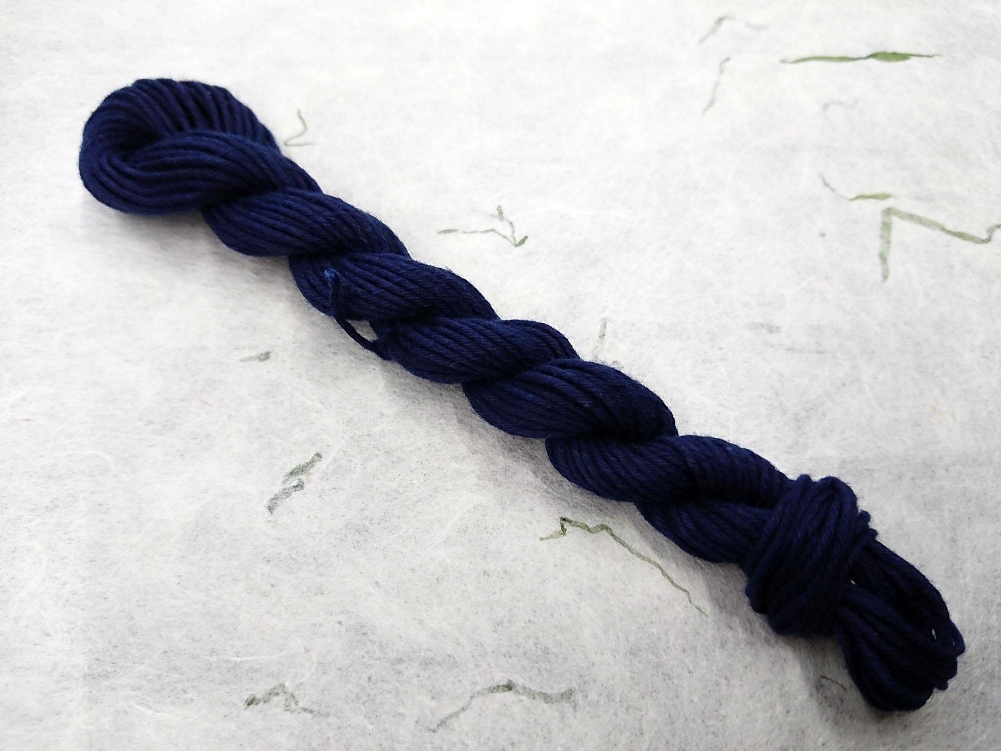 本藍 染 糸 勝 濃紺